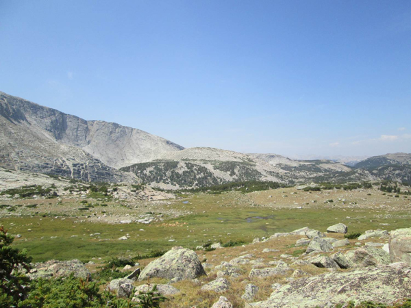 Project area in the high country of the southern Wind River Range, Wyoming.