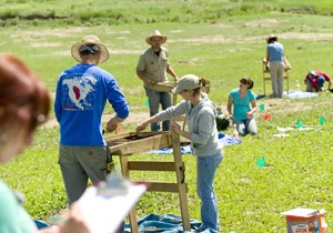 Students in Jason La Belle's Anth460-660 Archaeology Field School class work on a dig at a Fort Collins natural area. June 10, 2011