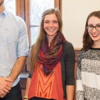 Recipients of the Fulbright scholarship before they embark on their travels.