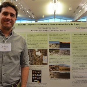 Anthropology student presents his poster project