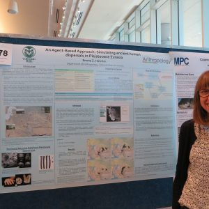 Emma Zink-Hatcher MA'16 presenting at the 2015 Graduate Student Showcase. She received the Great Minds in Research Award.