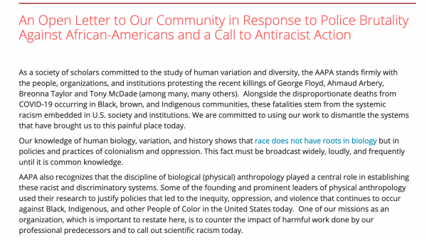 AAPA statement and call for antiracist action