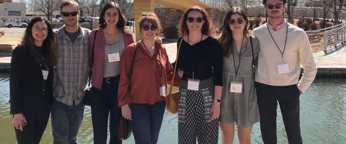 Anthropology and Geography students at the Colorado Council of Professional Archaeologists annual meeting in Pueblo in early March 2020