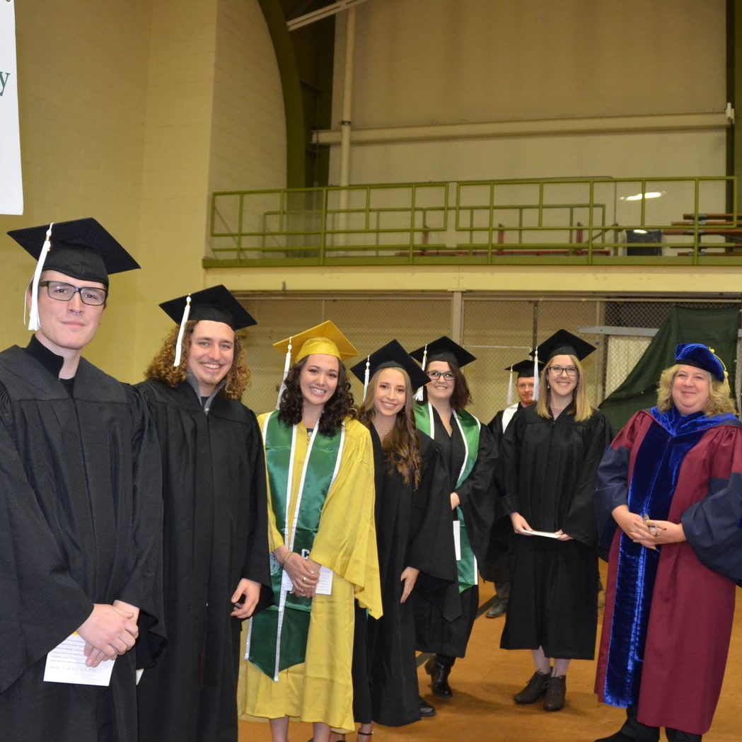 Group of Anthropology students and professors during graduation